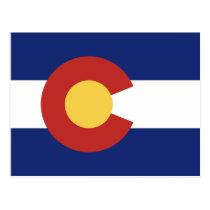 Colorado state flag custom postcards