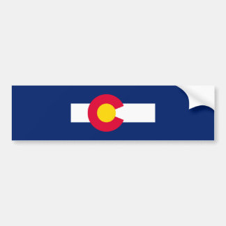 Colorado State Flag Design Bumper Sticker