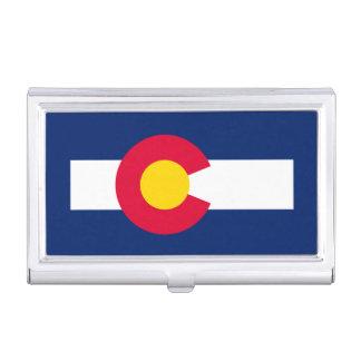 Colorado State Flag Design Business Card Case