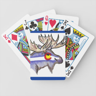 Colorado state flag design elk playing cards