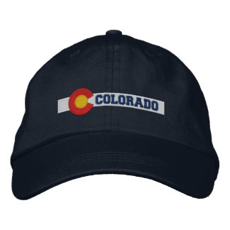 Colorado State Flag Design Embroidered Baseball Hat