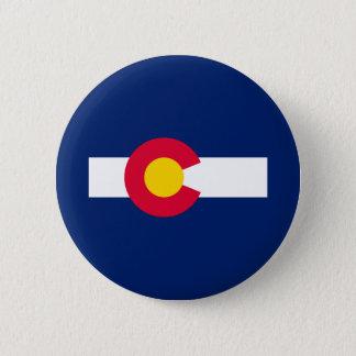 Colorado State Flag Design Pinback Button