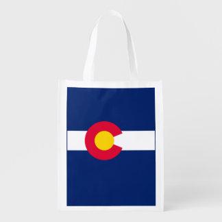 Colorado State Flag Design Reusable Grocery Bag