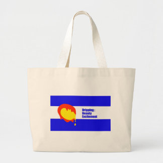 Colorado State Flag Dripping Beauty and Excitement Large Tote Bag