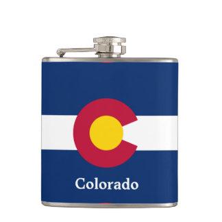 Colorado State Flag Hip Flask