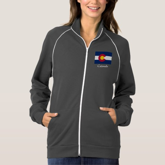 Colorado State Flag Fleece Jacket | Zazzle