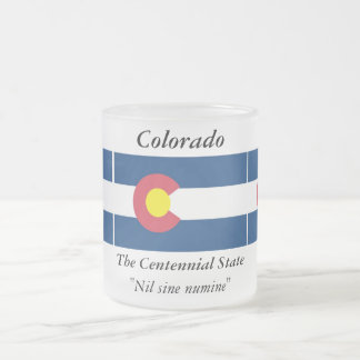 Colorado State Flag Frosted Glass Coffee Mug