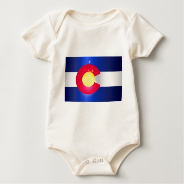 USA Themed Colorado State Flag Glow Baby Bodysuit