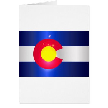 USA Themed Colorado State Flag Glow Card