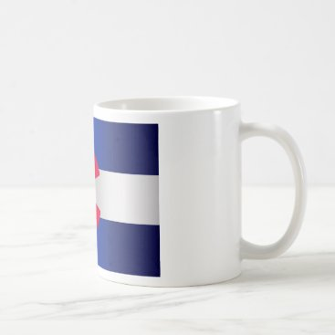 USA Themed Colorado State Flag Glow Coffee Mug