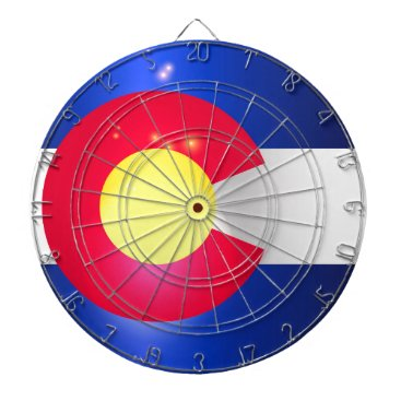 USA Themed Colorado State Flag Glow Dartboard With Darts
