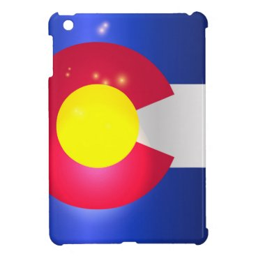 USA Themed Colorado State Flag Glow iPad Mini Cases