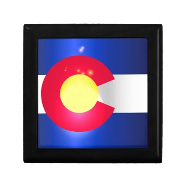 USA Themed Colorado State Flag Glow Jewelry Box