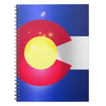 USA Themed Colorado State Flag Glow Notebook
