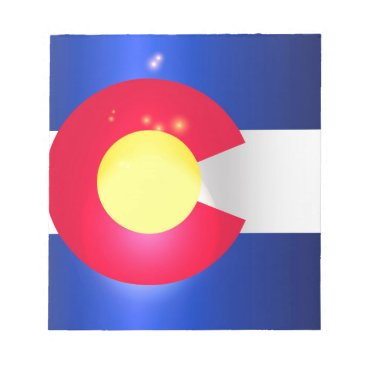 USA Themed Colorado State Flag Glow Notepad