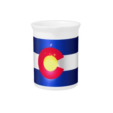 USA Themed Colorado State Flag Glow Pitcher