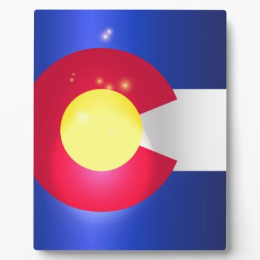USA Themed Colorado State Flag Glow Plaque