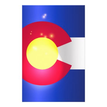 USA Themed Colorado State Flag Glow Stationery