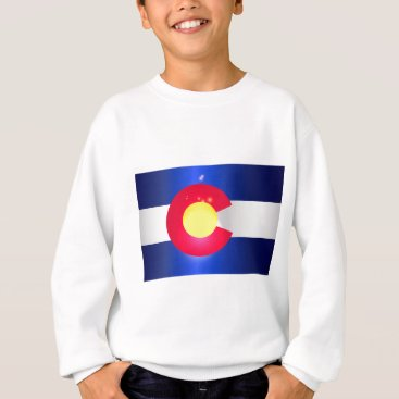 USA Themed Colorado State Flag Glow Sweatshirt