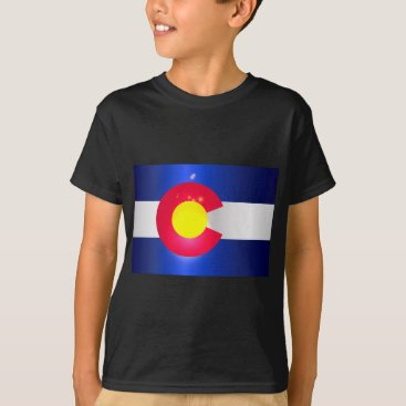 USA Themed Colorado State Flag Glow T-Shirt