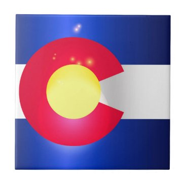 USA Themed Colorado State Flag Glow Tile