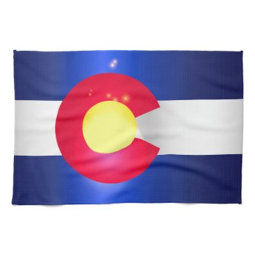 USA Themed Colorado State Flag Glow Towel