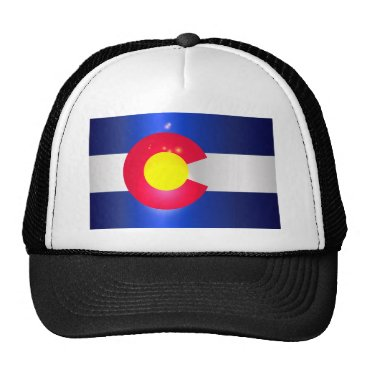 USA Themed Colorado State Flag Glow Trucker Hat