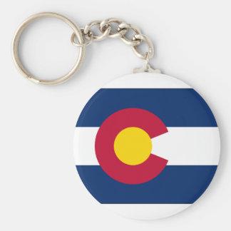 Colorado State Flag Basic Round Button Keychain