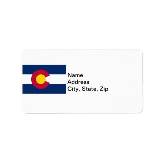 Colorado State Flag Label