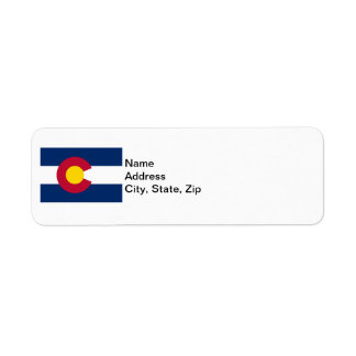Colorado State Flag Label