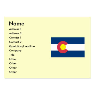 Colorado State Flag Large Business Card