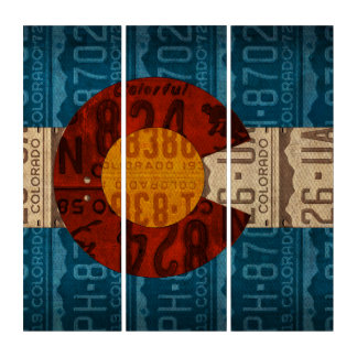 Colorado State Flag License Plate Art