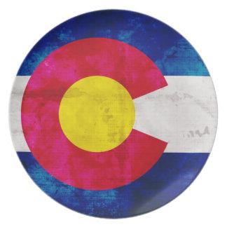 Colorado State Flag Melamine Plate