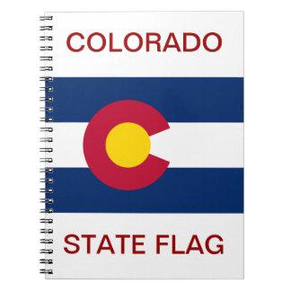 Colorado State Flag Notebook