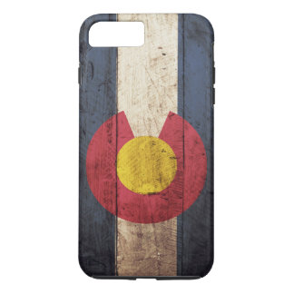 Colorado State Flag on Old Wood Grain iPhone 7 Plus Case