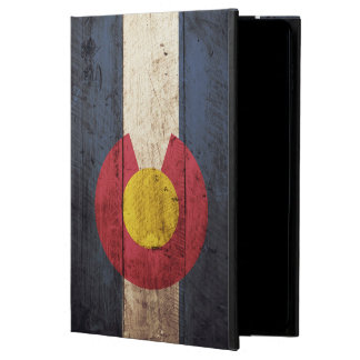 Colorado State Flag on Old Wood Grain Powis iPad Air 2 Case