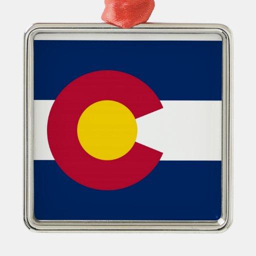Colorado State Flag Christmas Tree Ornament