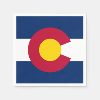 Colorado State Flag Paper Napkin