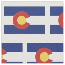 Colorado state flag pattern fabric DIY textile