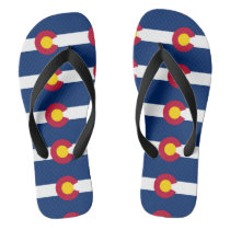 Colorado State Flag Pattern Flip Flops