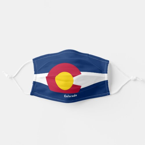 Colorado State Flag Personalize Text Cloth Face Mask
