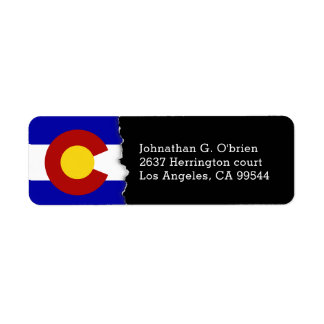 Colorado State Flag Personalized Label
