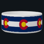 """Colorado State Flag Pet Bowl<br><div class=""""desc"""">Awesome Pet Bowl with Flag of Colorado State,  United States of America. This product its customizable.</div>"""