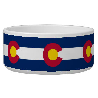Colorado State Flag Pet Bowl