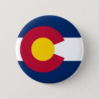 Colorado State Flag Pinback Button