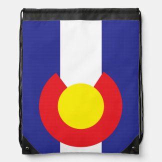 Colorado State Flag.png Drawstring Backpack