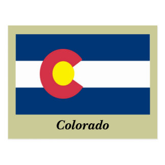 Colorado State Flag Postcard