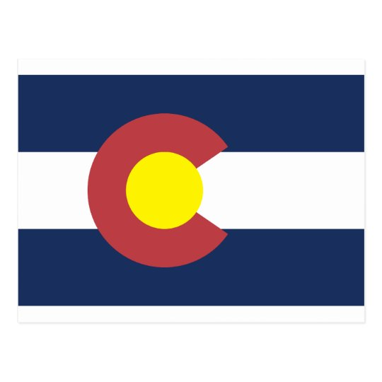 Colorado State Flag Postcard