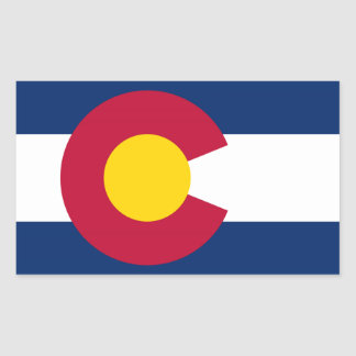 Colorado State Flag Rectangular Sticker