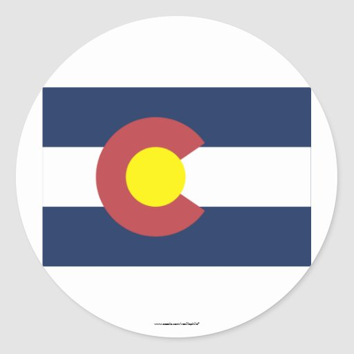 Colorado State Flag Round Stickers